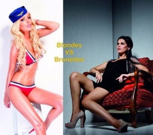 Blonds VS Brunettes