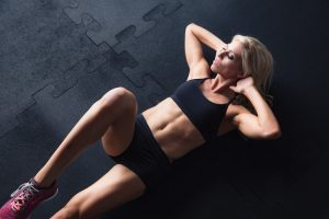 Hot blonde fitness girls
