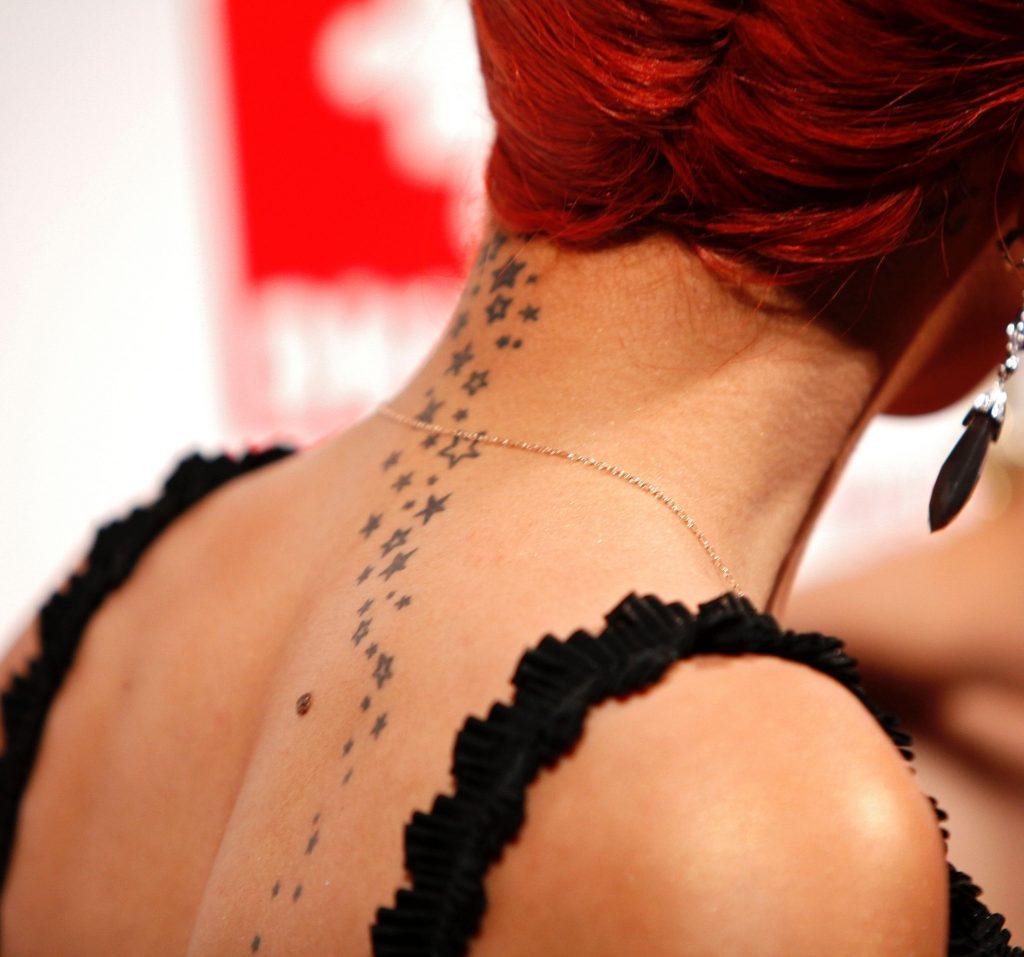Elegant Tattoo On Neck