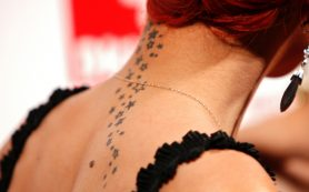 Elegant Tattoo On Neck